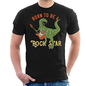Dinosaur gitaar Born To Be A Rockstar Men's T-Shirt