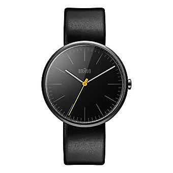 Braun men's Quartz Analog leather strap BN0172BKBKG