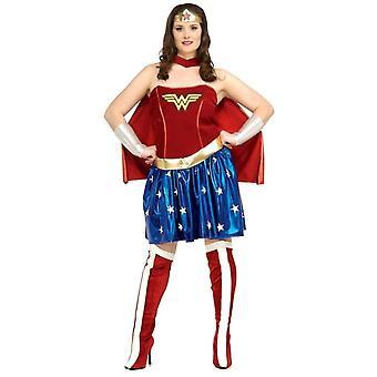 Wonder Woman volwassene Plus kostuum
