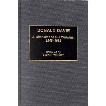 Donald Davie A lista de verificação de seus escritos 19461988 por Wright & T. Stuart