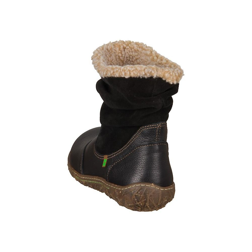 El Naturalista Nido N758 BL Svart Soft Grain Lux Semsket N758bl universellvinter kvinner sko