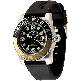 Zeno-watch mens watch of airplane diver automatic points 6349GMT-3-a1-9