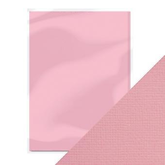 Handwerk perfekte A4 Weben strukturierte Karte Blüte rosa Tonic Studios