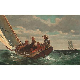 Breezing Up, Winslow Homer, 60x38cm