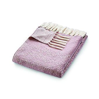 Abraço tapete reversível tecido trellis throw em rosa