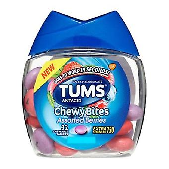 Tums antacid chewy Bites diverse bær Tyggetabletter