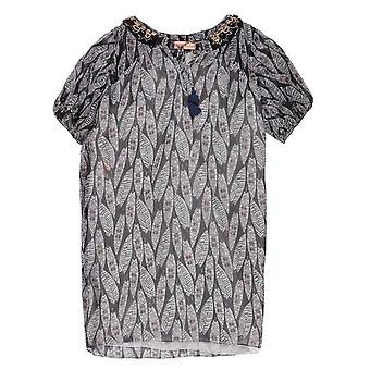 MW by Matthew Williamson Block Feather Beaded Top