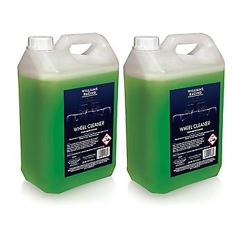 Alloy Wheel Cleaner 2 x 5L Heavy Duty and Non Acidic by Williams Racing