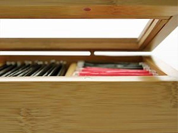 Woodquail Bamboo Tea Box Storage Organiser Tea Caddy (8 compartments)