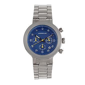 Morphic M78-serien chronograph armbåndsur-sølv/blå