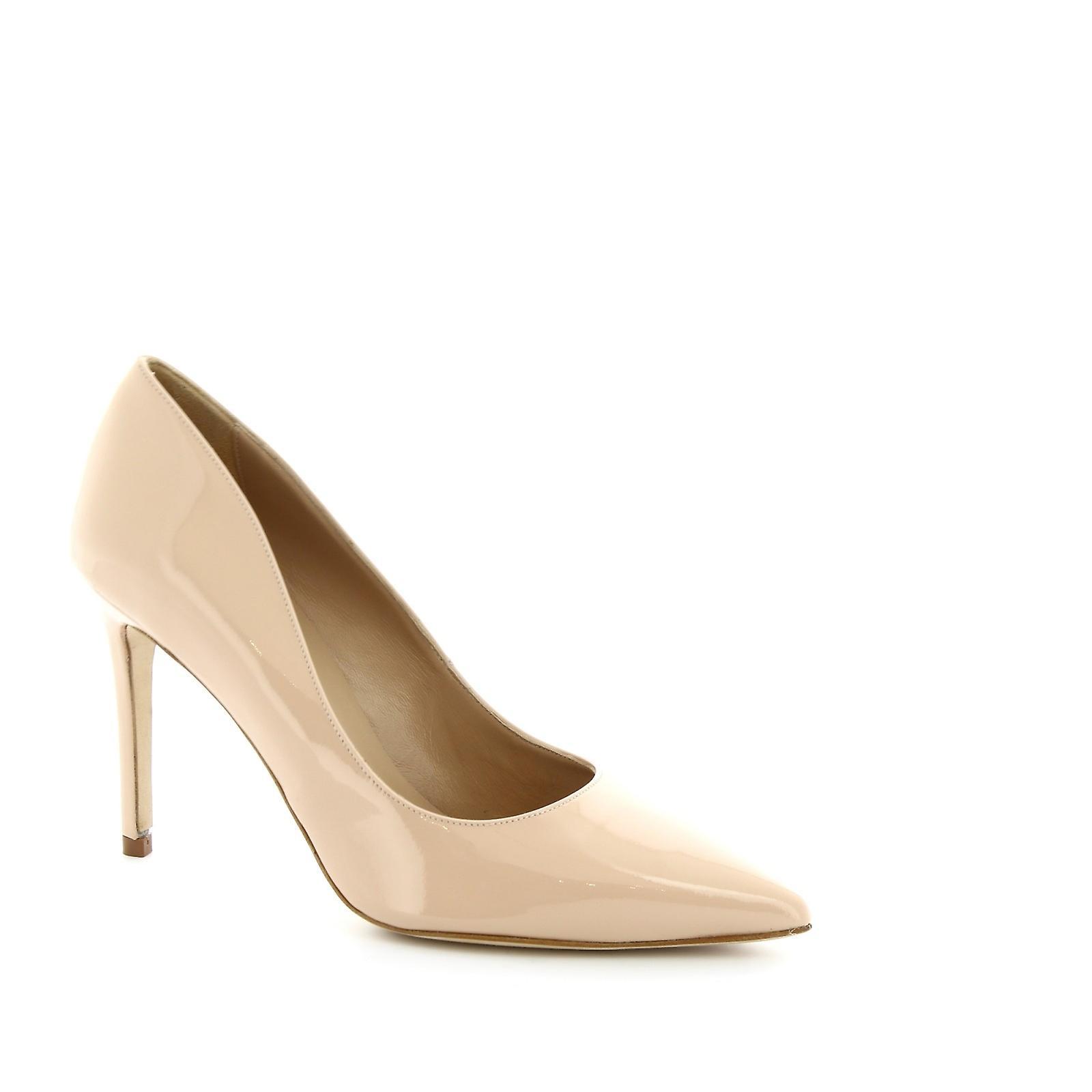 Leonardo Shoes Women's handmade heel pumps in powder pink patent leather ABoT0