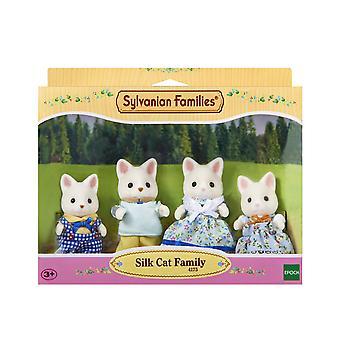 Família de famílias Sylvanian gato seda
