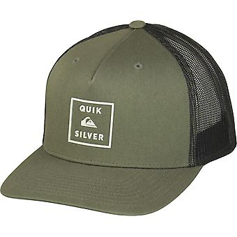 Quiksilver Mens Locked In Trucker Snapback Hat - Crocodile Green