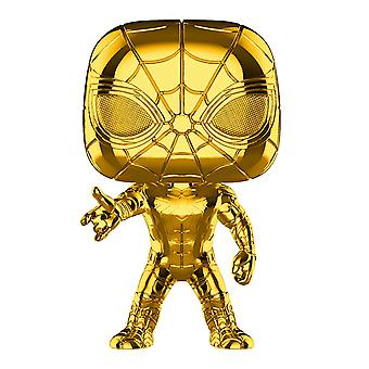 Marvel Studios 10. Jahrestag Iron Spider Gold Chrome Pop!