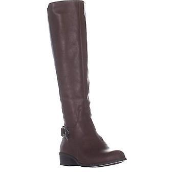 A35 Kallumm Wide Calf Knee High Boots, Cognac, 9 US