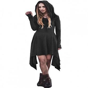Langermet vinter varm hette kjole