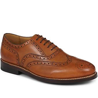 Goodyear welted wing-tip oxford brogue