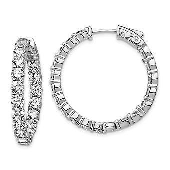 925 Sterling Zilver gepolijst Veiligheid gesp Rhodium verguld Rhodium Verguld met CZ Cubic Zirconia Gesimuleerde Diamant Scharnierende