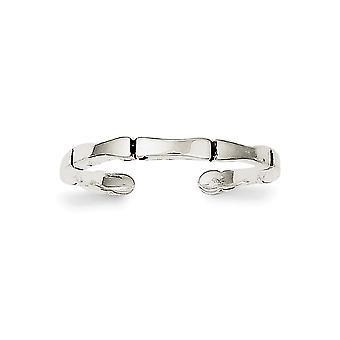 925 Sterling Gümüş Cilalı Katı Toe Yüzük Takı Takı Hediyeler Kadınlar için - 1.5 Gram