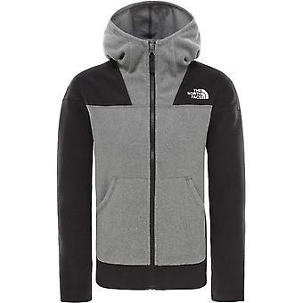 North Face Girl ' s Glacier FZ hoodie XS/L-TNF med grå Ljung
