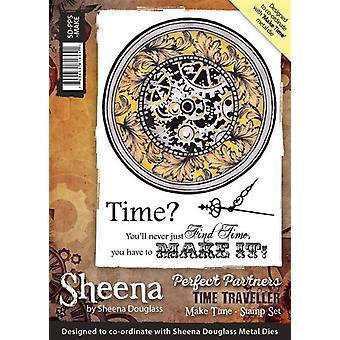 Sheena Douglass perfecte partners tijdreiziger A6 rubber stempel set-tijd maken