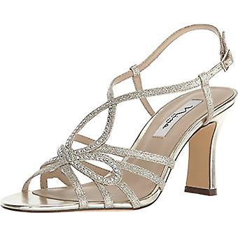 Nina Womens Amabel Leather Open Toe Special Occasion Slingback Sandals