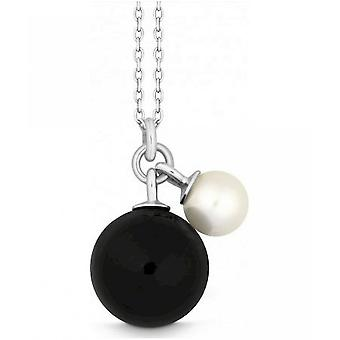 QUINN - Necklace - Women -Silver 925 - Pearl - Onyx - Freshwater - 2760142