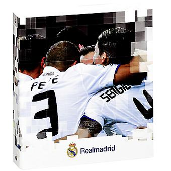 Real Madrid FC Official A5 Hardback Football Crest Folio Ring Binder (Pack Of 2)