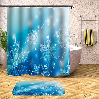 Shiny Snowflakes Shower Curtain