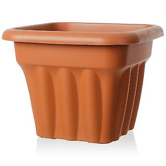 Wham Storage 33cm Vista Pequeño Cuadrado Plantador de Jardín plástico