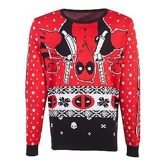 Marvel Comics Deadpool strikket jule genser unisex liten (KW845607DED-S)