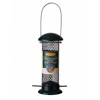 Johnston & Jeff metall solros hjärta Wild Bird Feeder