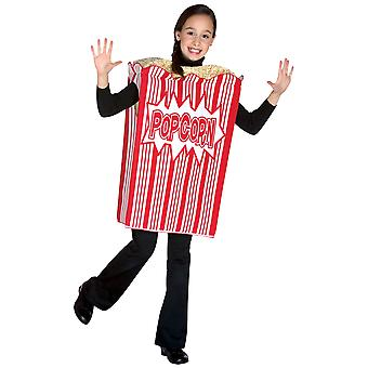 Movie Night Popcorn Cinema Bucket Food Book Week Dress Up Girls Costume 7-10