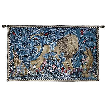 William morris - lion and the forest wall hanging by signare tapestry / 139cm x 87cm / wh-wm-lnfst