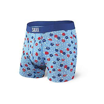 Saxx Mens Vibe Boxer Brief - Blue Ping Pong