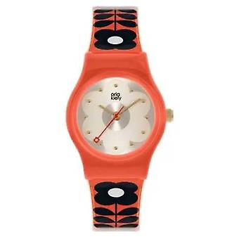 Orla Kiely Baby Bobby - France Caisse en plastique rouge (red Plastic Case) Red Flower Print Strap OK2326 Montre