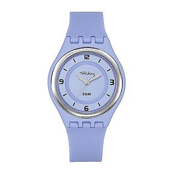 Watch Tekday 654645 - Silicone Violet Box Bracelet Silicone Violet Girl