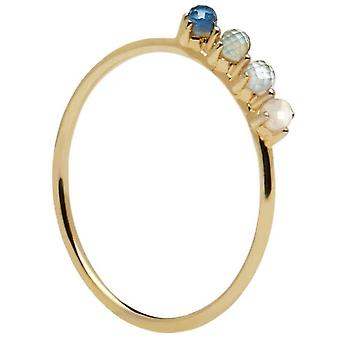 PD Paola Ring AN01-123 - COBALT in gold silver with natural stones and semi-precious Women