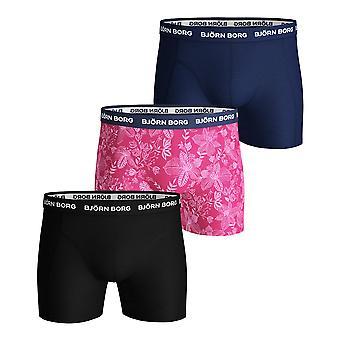 Bjorn Borg Uomini's Boxer Shorts 3 Pack - Sammy BB Fiji Flower