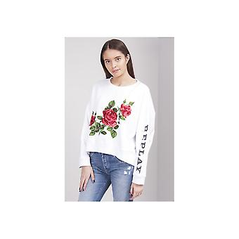 Replay Rose Blume Patch Sweat