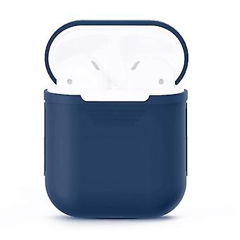 For Apple Airpods Storage Bag Dark Blue Silicone Protective Box