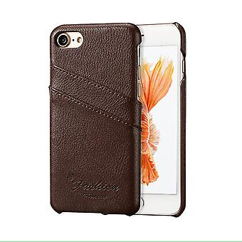 Para iPhone SE(2020), 8 & 7 Case, Fashion Stylish Handmade Almetly Leather Cover, Brown
