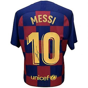Barcelona Messi Signed Shirt 19-20