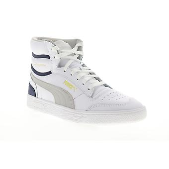 Puma Ralph Sampson Mid  Mens White Lace Up High Top Sneakers Shoes