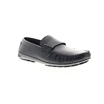 Zanzara Kadinsky  Mens Blue Leather Dress Slip On Loafers Shoes
