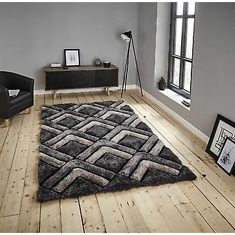 Shaggy - edle Haus 8199 graue Rechteck Teppiche Plain/fast nur Teppiche