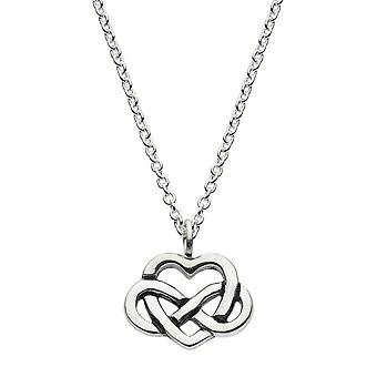 Kit Heath Heritage Sterling Silver Celtic Heart With Knot Necklace 9265HP026