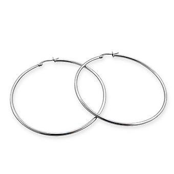 6.5cm Stainless Steel Hoop Earrings