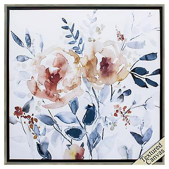 """30"""" X 30"""" Silver Frame Flowering Branches I"""
