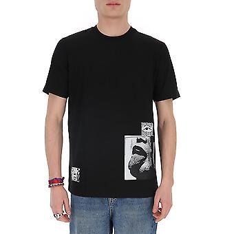 Diesel 00sgrn0taxk9xx Men's Black Cotton T-shirt